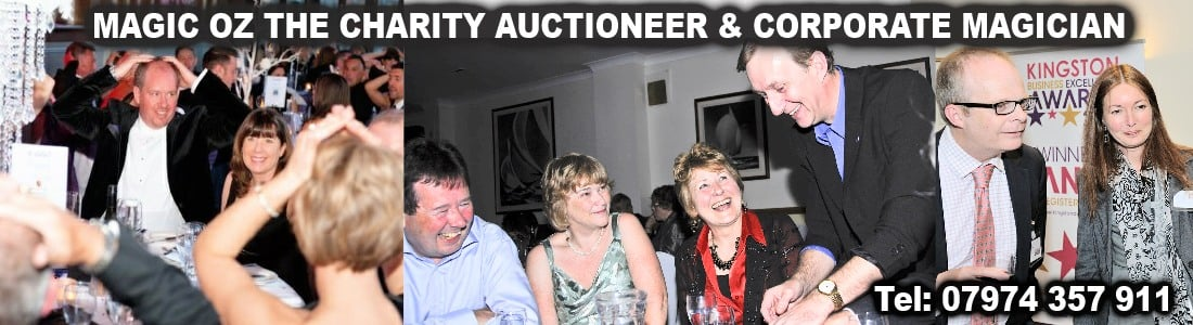 Sussex Charity Auctioneer & Corporate Magician Sussex Magic OZ